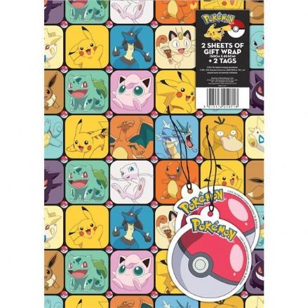 Pokémon Gift Wrap and Tags